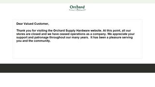 Orchard Supply Hardware Store