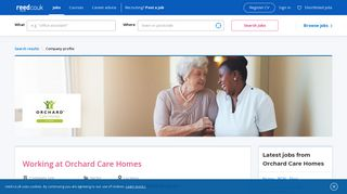 Working at Orchard Care Homes | reed.co.uk