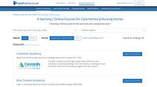 E-learning / Online Courses UK for Care Homes & Nursing Homes