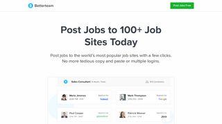 Post a Job to 100+ Job Sites