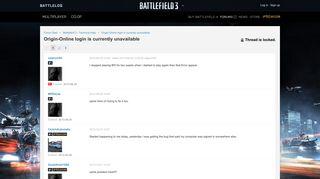 Origin-Online login is currently unavailable