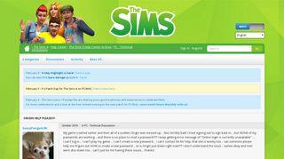 Origin HELP Please!!!! — The Sims Forums