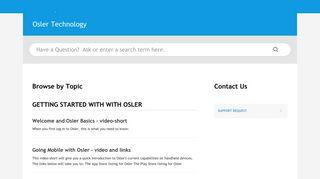 Osler Technology   Portal