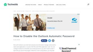 How to Disable the Outlook Automatic Password   Techwalla.com
