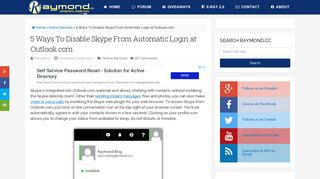 5 Ways To Disable Skype From Automatic Login at Outlook.com ...