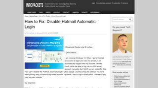 How to Fix: Disable Hotmail Automatic Login   www.infopackets.com