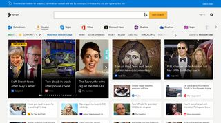 MSN UK: Latest news, weather, Hotmail sign in, Outlook email, Bing
