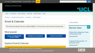 Email & Calendar | Information Services Division - UCL - London's ...