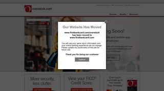 Overstock.com MasterCard Personal Credit Card, First Bankcard, a ...