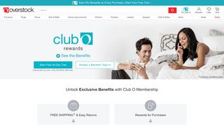 Club O | Overstock.com | Earn Rewards for Shopping