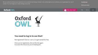 Dashboard - Oxford Owl