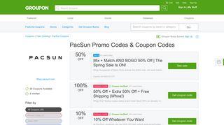 100% off PacSun Coupons, Promo Codes & Deals 2019 - Groupon