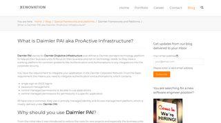 What is Daimler PAI aka Daimler ProActive Infrastructure ...