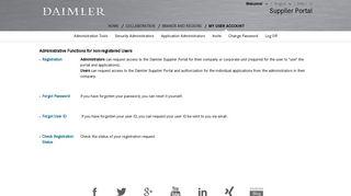 My User Account   Daimler Supplier Portal