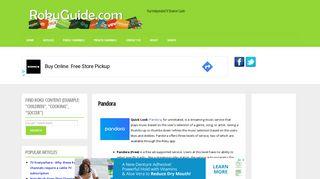 Pandora   Roku Guide