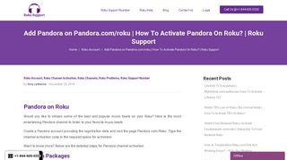 Pandora.com/roku   Activate Pandora on Roku   Roku Support