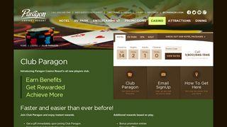 Casino Rewards | Club Paragon | Paragon Casino Resort