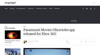 Paramount Movies Ultraviolet app released for Xbox 360 - Engadget