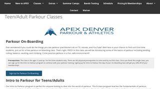Teen/Adult Parkour Classes – APEX Denver
