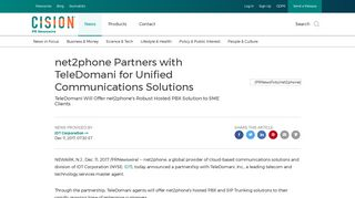 net2phone Partners with TeleDomani for Unified Communications ...