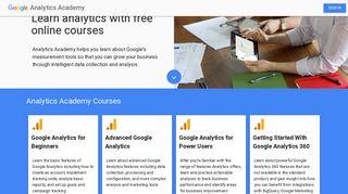 Analytics Academy - Analytics - Google