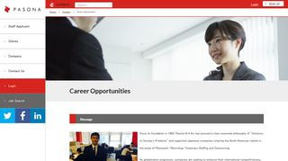 Career Opportunities - PASONA N A
