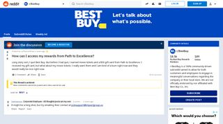How can I access my rewards from Path to Excellence? : Bestbuy ...