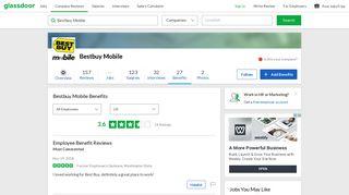 Bestbuy Mobile Employee Benefits and Perks | Glassdoor