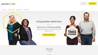 PatientsLikeMe: Live better, together!