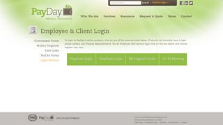 Login Services | PayDay Payroll Resources