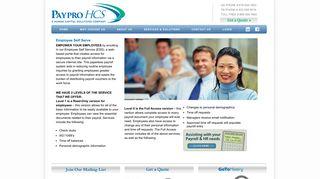 Employee Self Serve - PayPro HCS