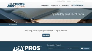 Login to Pay Pros Client Portal