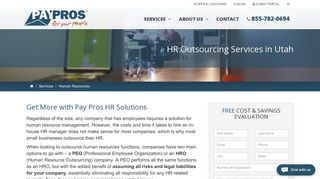 Utah Human Resource Outsourcing Services | Pay Pros