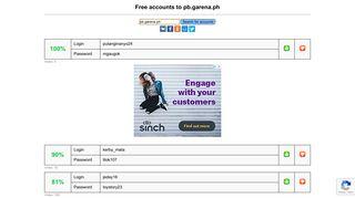Login Pb Garena Or Register New Account