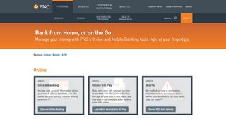 Online Banking & Mobile Banking   PNC