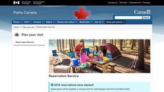 Reservation Service - Plan your visit