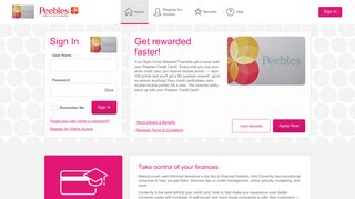 Peebles Credit Card - Manage your account - Comenity