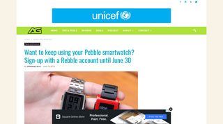 Want to keep using your Pebble smartwatch? Sign-up with Rebble