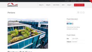 Pentana | Comscentre - Telecommunications, Collaboration, Cloud ...