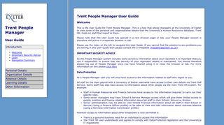 Trent People Manager User Guide - University of Exeter
