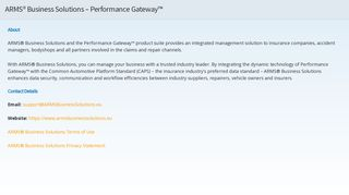 ARMS® Business Solutions - Performance Gateway™ - Caps
