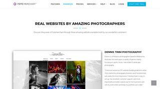 Best Photography Website Examples - Fotomerchant