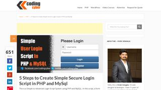 5 Steps to Create Simple Secure Login Script in PHP and MySql