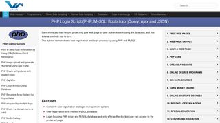 PHP Login Script (PHP, MySQL, Bootstrap, jQuery, Ajax and JSON)