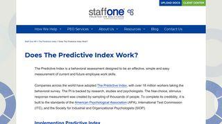 Does The Predictive Index Work? - Staff One HR