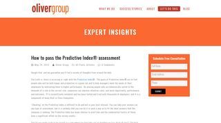 How to pass the Predictive Index® assessment   Oliver Group