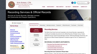 Official Records - Pinellas County Clerk