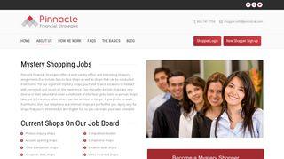 Mystery Shopping Jobs   Pinnacle Financial Strategies
