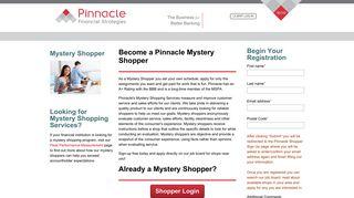 Become a Pinnacle Mystery Shopper - Pinnacle Financial Strategies