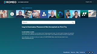 Planetromeo login password